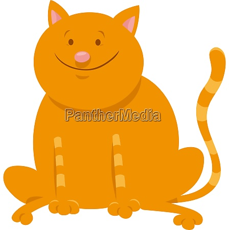 cute yellow cat cartoon animal character