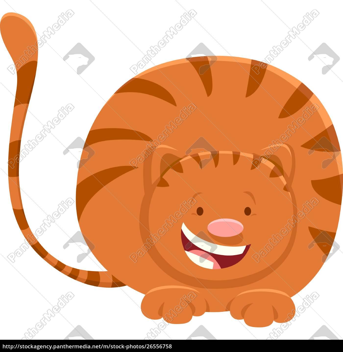 cute, red, cat, cartoon, animal, character - 26556758