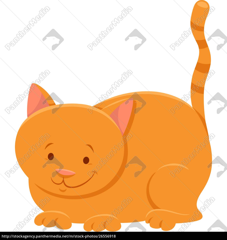 funny, yellow, cat, cartoon, animal, character - 26556918