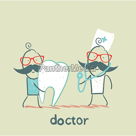 physician and the patient with a