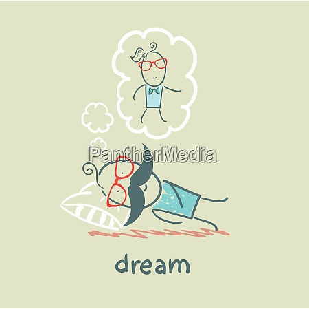 man dreams with a woman