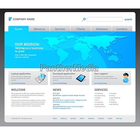 100 vector 2011 modern website template