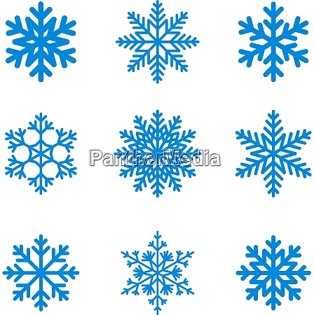 snowflakes, icon, collection., vector, shape. - 26564372