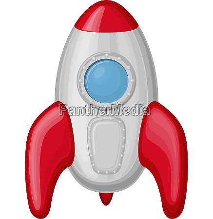 rocket cartoon icon in funny style