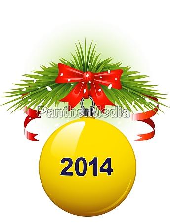 2014 christmas decoration vector