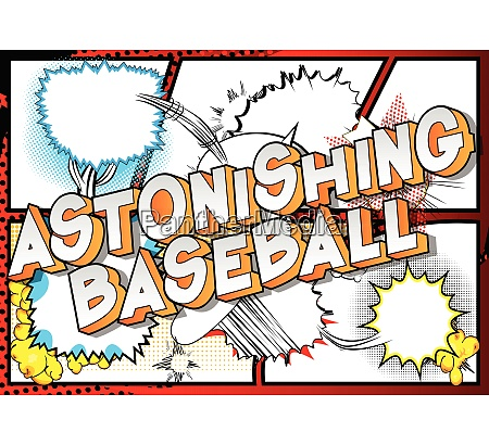 astonishing baseball comic book style