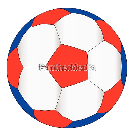 red white and blue football