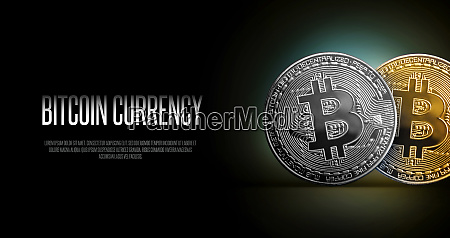 bitcoin banner header gold and silwer