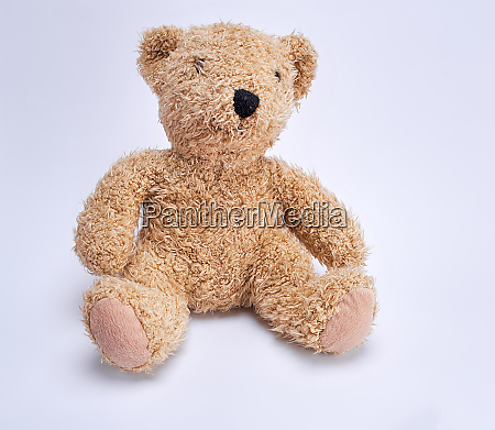 old brown teddy bear on a