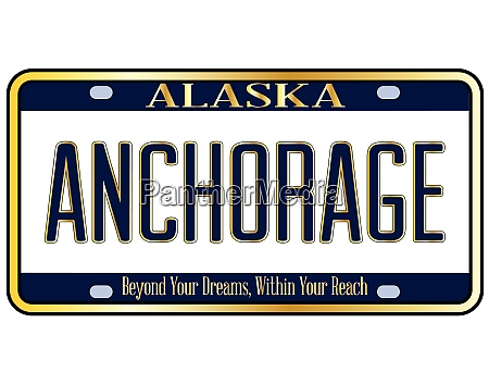 alaska state license plate mockup with