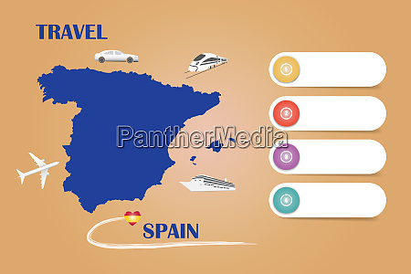 travel spain template vector on the