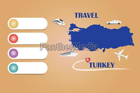 travel turkey template vector