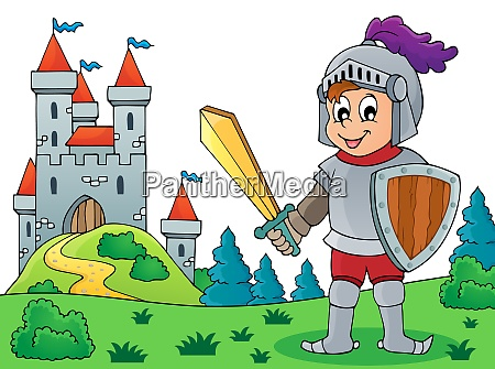 knight and castle theme image