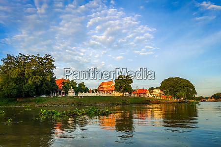 chao phraya river ayutthaya thailand