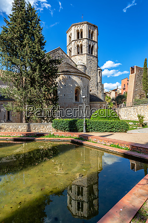benedictine abbey reflection vertical view