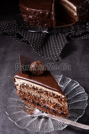 chocolate cake airy biscuit and