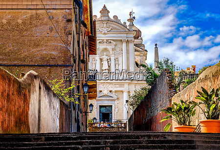 baroque italian church white facade nostra