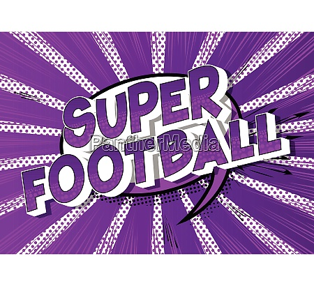 super football vector illustrated comic