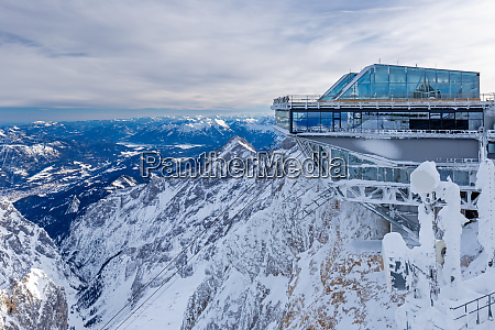 summit station of cable car on