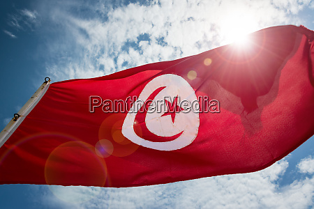 tunisian flag and sky