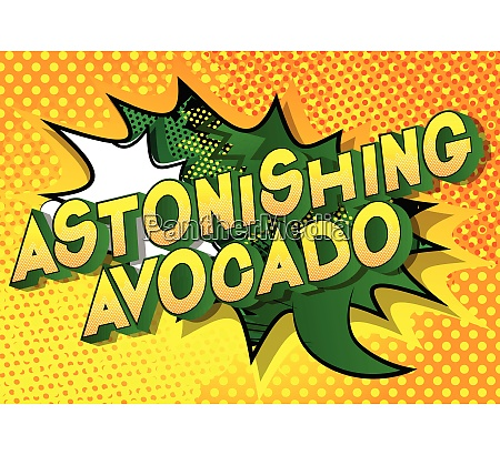 astonishing avocado comic book style