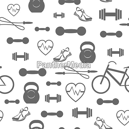 metallic dumbell seamless background sport fitness