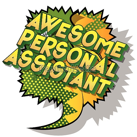 awesome personal assistant vector illustrated