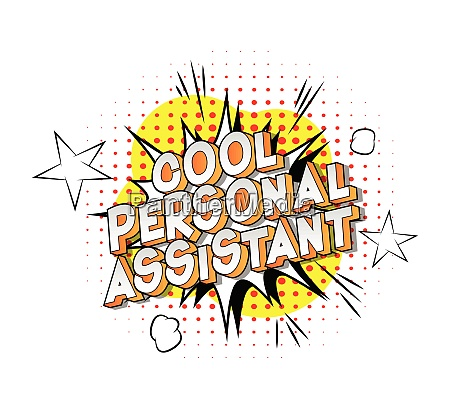 cool personal assistant vector illustrated