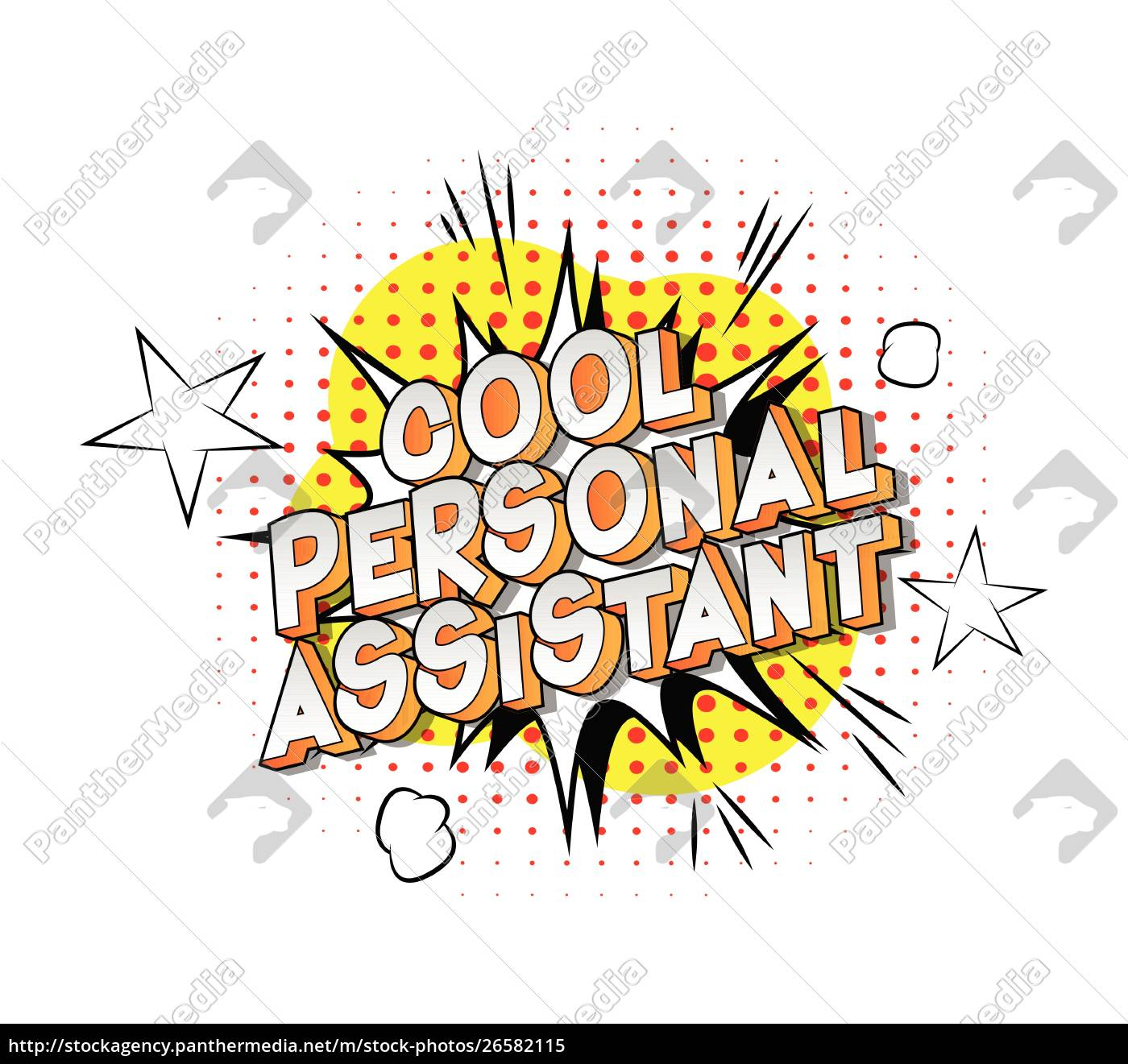 cool, personal, assistant, -, vector, illustrated - 26582115
