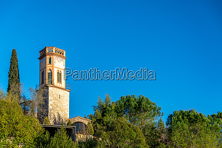 tower and trees in girona spain