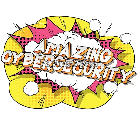 amazing cybersecurity comic book style
