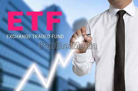 etf trader draws market price on