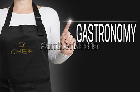 gastronomy touchscreen is operated by chef