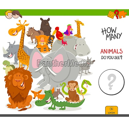 how many animals educational game