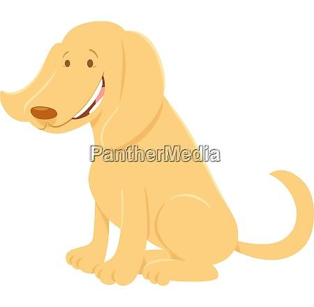 felice cane beige animale cartoon personaggio
