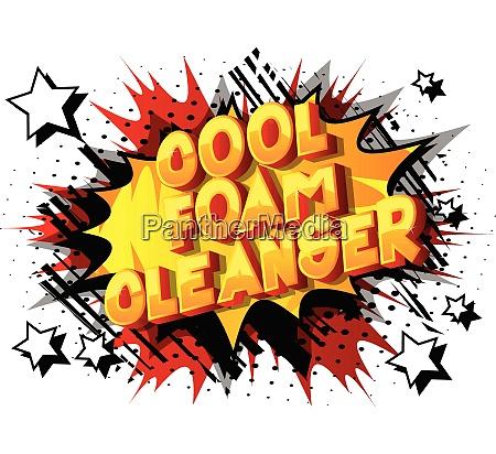 cool foam cleanser comic book