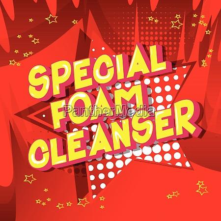 special foam cleanser comic book