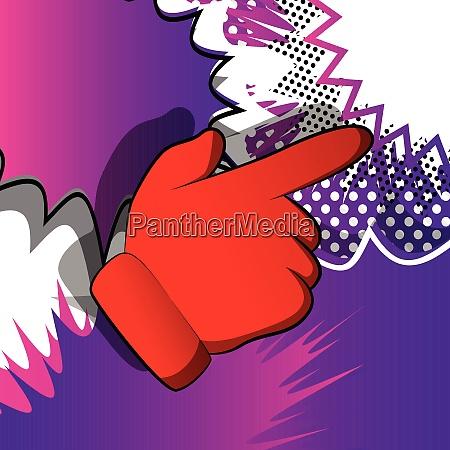 vector cartoon pointing hand