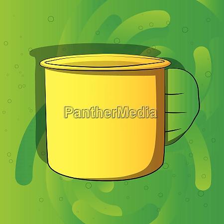 cartoon hand holding big mug
