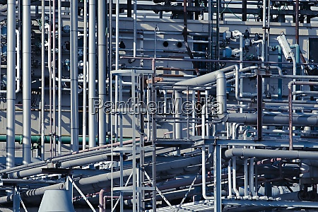 chemical plant pipes