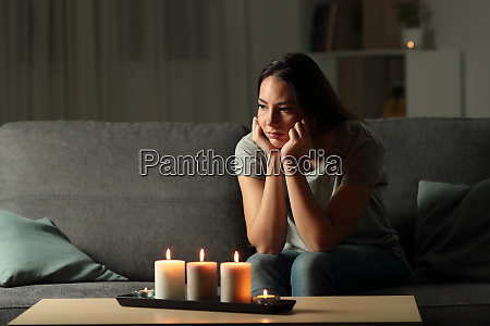 frustrated woman sitting at home during