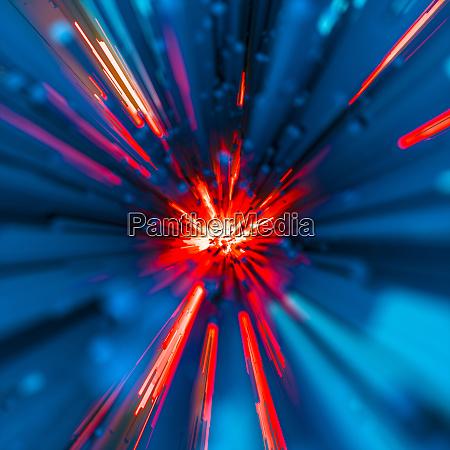 fiery data technology explosion or blast