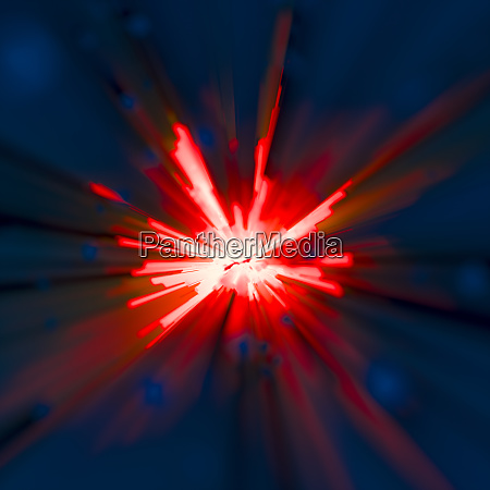 bright vibrant red abstract blast or