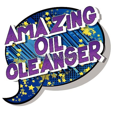 amazing oil cleanser comic book