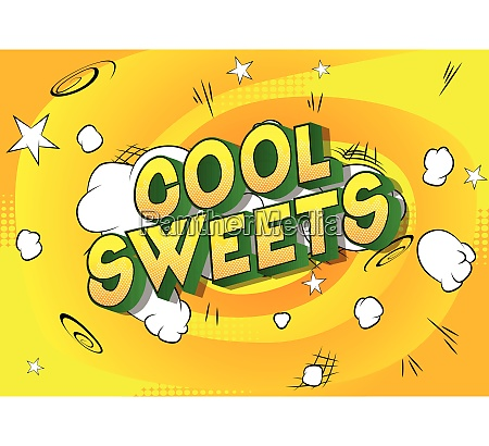 cool sweets comic book style