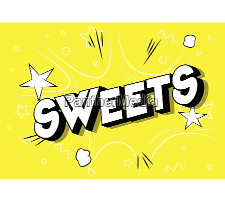 sweets, -, comic, book, style, phrase. - 26601214