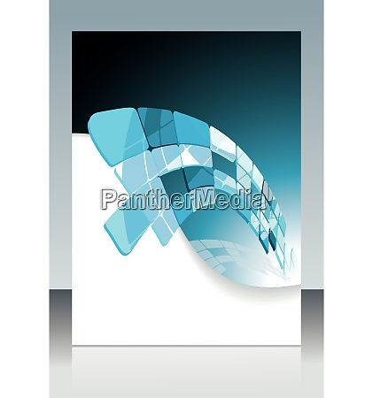 blue technological banner vector illustration