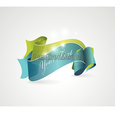 green and blue transparent ribbons