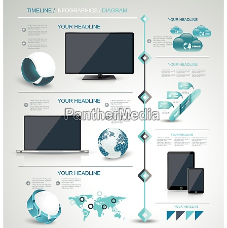 modern infographic or webdesign concept mobile