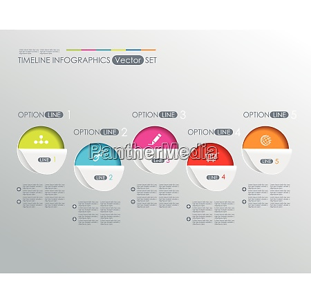 modern infographics process template with paper